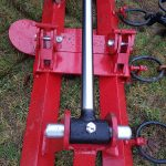 Agritrend Hydraulic Fold Chain Harrow in Transport Position