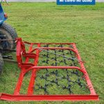 Heavy duty harrow for compact tractor