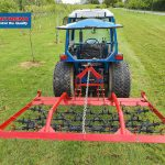 Heavy duty chain harrow for compact tractor with Cat 1 linkage