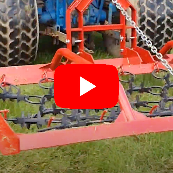 2.35 meter harrow for compact tractors